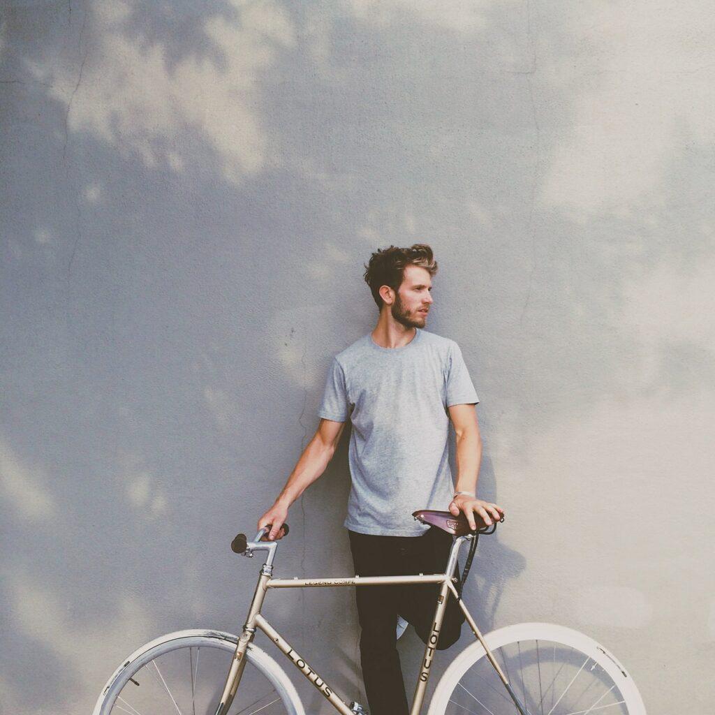 guy, bike, bicycle