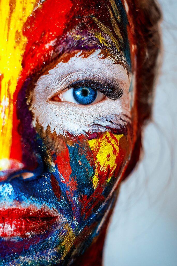 makeup, face, woman